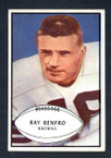 1953 Bowman Football # 062  Ray Renfro Cleveland Browns EX