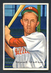 1952 Bowman Baseball # 092  Eddie Waitkus Philadelphia Phillies EX