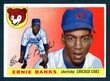 1955 Topps Baseball # 028  Ernie Banks Chicago Cubs EX