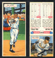 1955 Topps Double Header Baseball # 007 Bill Taylor Giants & # 8 Billy O'Dell Orioles EX