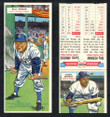 1955 Topps Double Header Baseball # 053 Billy Herman Dodgers & # 54 Sandy Amoros Dodgers EX/MT