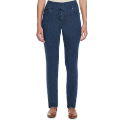 Classic Pull On Stretch Denim Pant in Plus