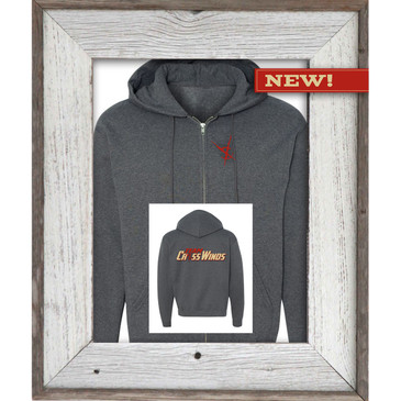 "Crosswinds Brand Dark Heather ""Full Zipper"" Hoodie"
