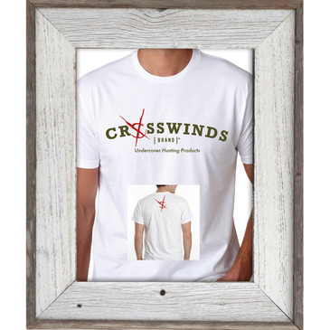 Crosswinds Brand White Short Sleeve T-Shirt