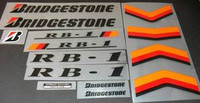 Bridgestone RB-1 decal set of 14 (sku 431)
