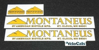 American Montaneus Bicycle Decal Set