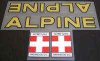 Alpine Bicycle Decal Set