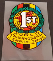 1st World Champion & Empire Games Seat Tube Badge