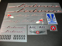 Airborne Lucky Strike Bicycle Decal Set