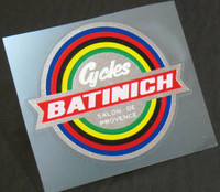 Batinich Bike Shop Decal (sku 1064)
