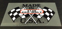 Checkered Flag Made in USA 4130 Tubing Decal (sku 1143)