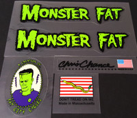 Fat Chance Monster Fat Bicycle Decal Set
