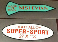 Nisi Evian and Super Sport Wheel Decals Set of 2 for 1 wheel (sku 1270)