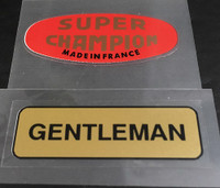 Super Champion/Gentleman Rim Decals - Set of 2