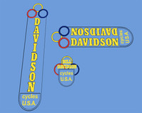 Davidson Early Decal set