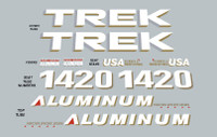 Trek 1420 Aluminum Decal Set - Model Options Available