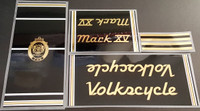 Volkscycle 80s Mark XV Bicycle Decal Set