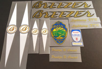 Breezer Lightning XTR Bicycle Decal Set