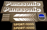 Panasonic Sports-1000 Bicycle Decal Set