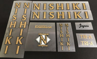 Nishiki 1989 Decal Set - Multiple Model and Color Options