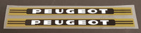 Peugeot 1970s Down Tube Decals  - Black/Metallic Gold - 1 Pair