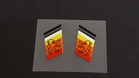 Peugeot  Fork Decals  with Double Black Top - 1 Pair