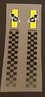 Peugeot  Fork Decals  - Lions Over Checkerboard  - 1 Pair