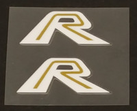 Fork Decals Gold on White - 1 Pair