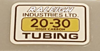 Raleigh 20-30 Tubing Decal