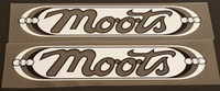 Moots Mountaineer Down Tube Decals - 1 Pair - Choose Colors