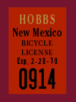 Hercules AMF Hobbs New Mexico License Decal