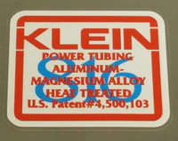 Klein Tubing Decal - Choose Colors