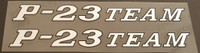 Ritchey P-23 Team Top Tube Decals - 1 Pair - Choose Color/Size