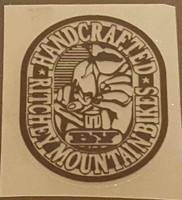 """Ritchey """"Handmade by Ritchey Mountain Bikes"""" Decal - Black on Clear"""