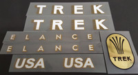 Trek 1986 400D Elance Bicycle Decal Set with Mirror Gold Head Badge Decal