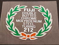 Fuji 212 Tubing Decal - Choose Black or White Lettering