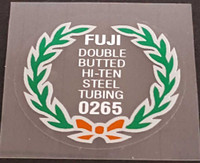 Fuji 0265 Tubing Decal - Choose Black or White Lettering
