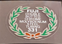 Fuji 331 Tubing Decal - Choose Black or White Lettering