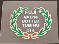 Fuji 414 Tubing Decal - Choose Black or White Lettering