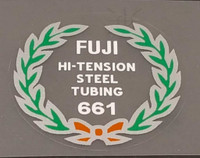 Fuji 661 Tubing Decal - Choose Black or White Lettering