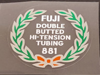 Fuji 881 Tubing Decal - Choose Black or White Lettering