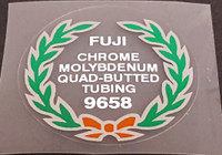Fuji 9658 Tubing Decal - Choose Black or White Lettering