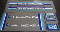 Teledyne Titan Decal Set of 4 (sku 398)