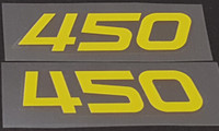 Bridgestone 450 Seat Tube Decals - 1 Pair - Choose Color