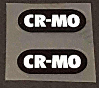 Bridgestone CR-MO Tubing Decals 1 Pair - White on Black