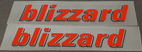 Rocky Mountain blizzard Top Tube Decals - 1 Pair - Select Colors