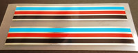 Stripes - Blue, Red, Black, Chrome