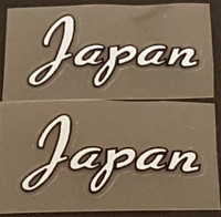 Made in Japan Decal - White - 1 Pair