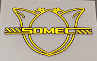 Somec Head Badge Decal - Choice of Color/Size