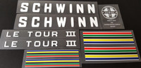 Schwinn Le Tour 3 Bicycle Decal Set